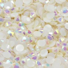 3/4mm White Iridescent AB Diamanté Rhinestone Embellishments